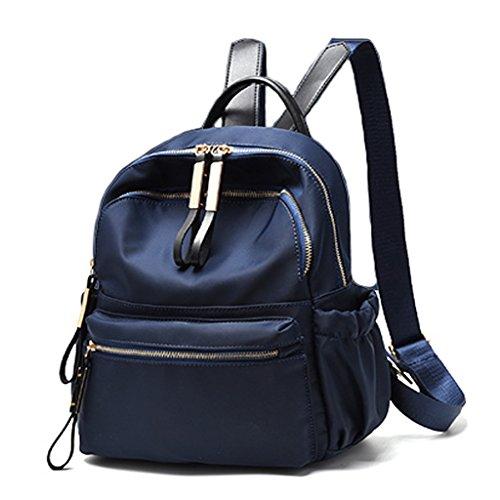 CLOTHES- Sacchetto di spalla femminile Zaino della mummia della borsa della signora di Oxford della tela di canapa di modo coreano casuale di modo selvaggio ( Colore : Viola ) Blu zaffiro