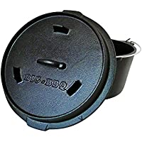 ig-BBQ Premium DO 9.0 Dutch-Oven aus Gusseisen | Fertig eingebrannter 12er Koch-Topf aus Gusseisen | mit Deckelheber und Deckelständer | mit Füßen
