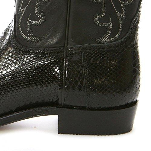 Tony Mora  1418, Bottes et bottines cowboy mixte adulte Pyton Negro