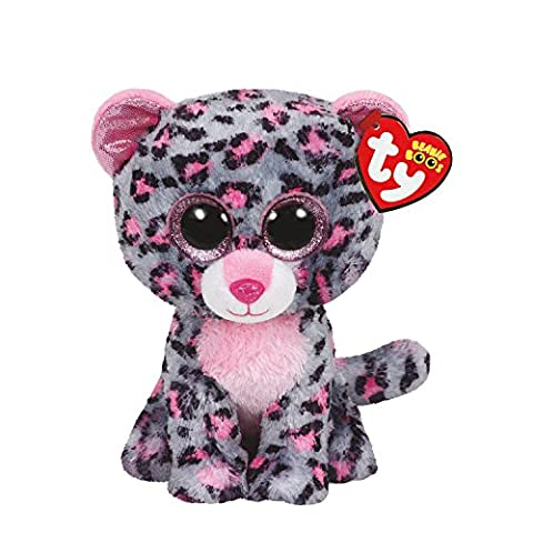 Ty Girls and Womens Beanie Boos Small Tasha The Leopard Soft Toy