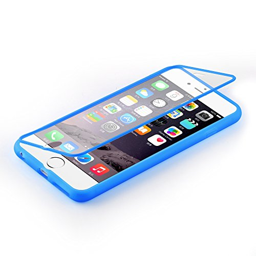 Cadorabo - TPU Silikon Schutz-Hülle (Full Body Rund-um-Schutz auch für das Display) für >            Apple iPhone 6 / 6S            < - (4.7) in ALKALI-BLAU ALKALI-BLAU