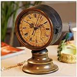 Reloj de pared Reloj de doble cara Vintage mesa escritorio reloj de bronce antiguos decorativos