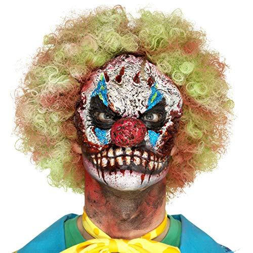 NET TOYS Horror-Clown Maske aus Schaum-Latex | Gruselige Männer-Maskerade Böser Clown Latexmaske | EIN Blickfang für Halloween & Zombie-Party