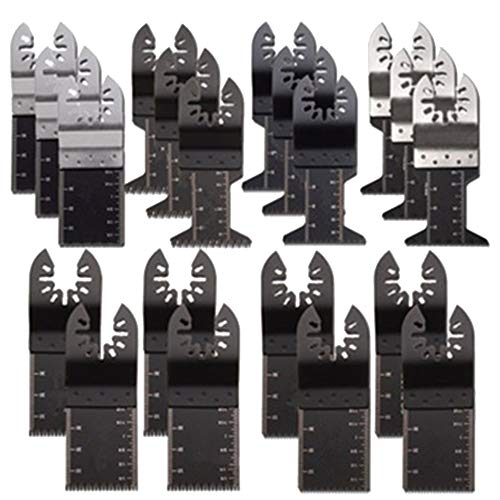 GCLGL Werkzeugkoffer 20 TLG. Oszillierendes Sägeblatt-Kit Für Dremel Fein Multimaster Makita Bosch Mix Multitool Holzschneidmesser-Set 34mm