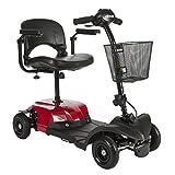 Dirección Médicos Rojo Bobcat X 4 4 Ruedas Compact Transportable Scooter, Negro