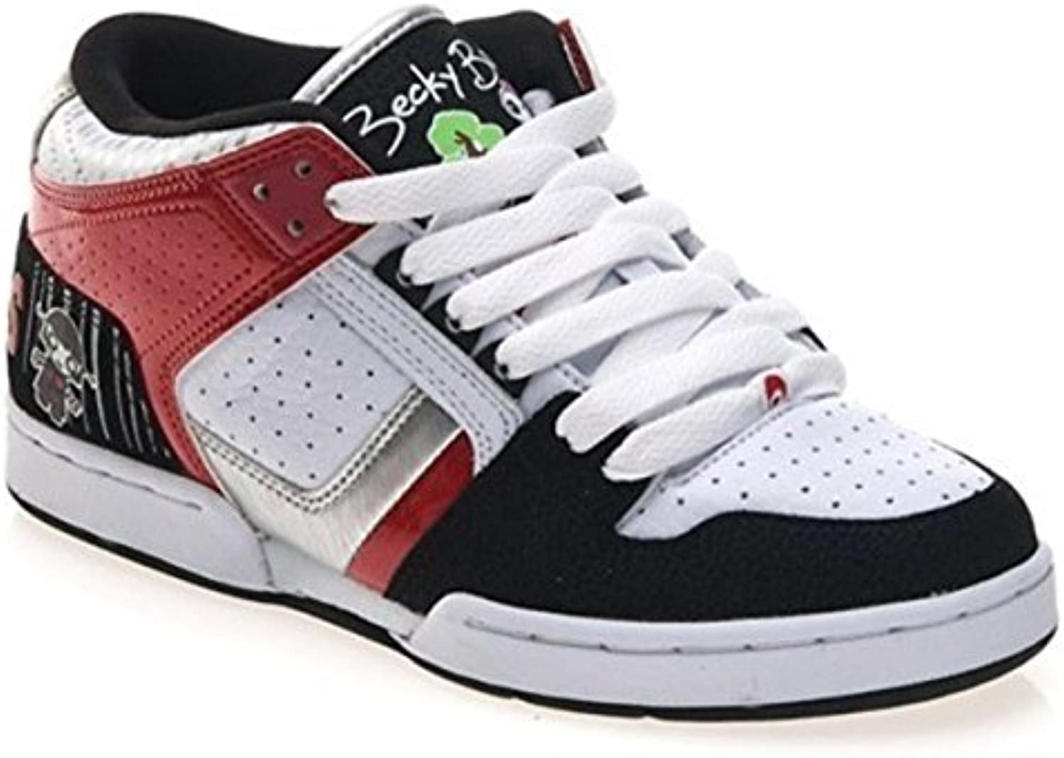 Osiris Skateboard Schuhe South Bronx Lucylie/Soaked/White/Black/Red   Hip Hop Schuhe