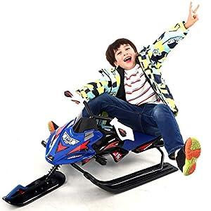 HECHEN Schneemobil Mit Bremsen Produktgröße125 × 50 × 40Cm-Kinderkinder-Skifahrer Mit Verstellbarem Sitzkissen