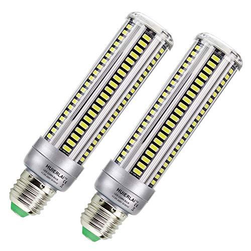Lampadine led e27 lampadina led 20w (equivalenti a 200w) 1980 lumen 6000k luce bianca - angolazione fascio luce 360° - lampada led by huierlai - 2 pezzi