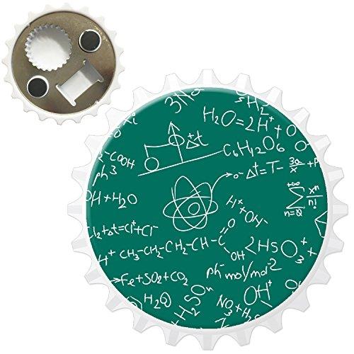 Brainiac cervello Geek Nerd scienza Boffin apribottiglie magnete per frigorifero, Atom Chemistry H20 Notes, Bottle Opener