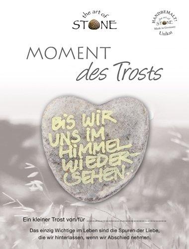 The Art of Stone Momente des Trosts Marmorsteinherz Bis wir Uns im Himmel wiedersehen Unikat - Hand beschriftet Trauerbegleiter Trost Grabbeigabe