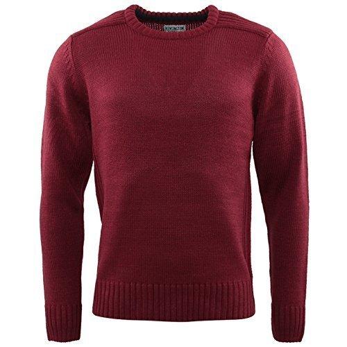 Hommes Tricot Kensington Eastside Neuf Vêtements En Tricot Pull Décontracté Chaud Hiver Top Bordeaux