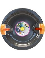 KHW Fun Ufo - Trineo redondo de plástico gris antracita Talla:68 x 65 x 7 cm