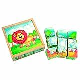 Bino 84174 - Puzzle Legno Cubi, Assortiti