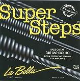 Labella SS42 Super Steps Série Jeu de Cordes pour Guitare Basse 40/100 Extra Light