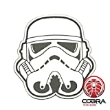 Cobra Tactical Solutions 3D PVC Star Wars Head Stormtrooper Patch Blanc sa lanière Hook & Loop Airsoft/Paintball …