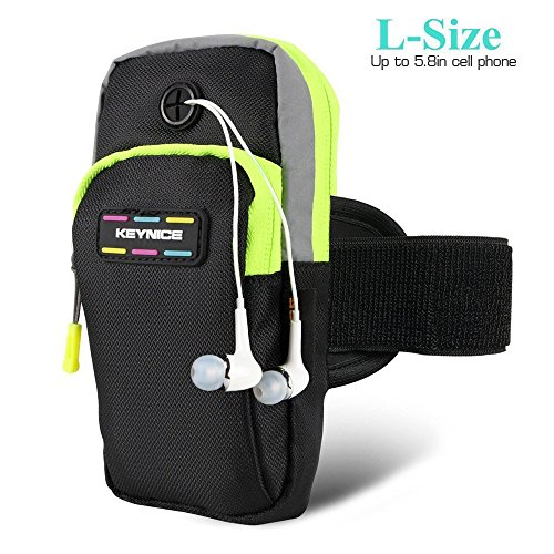 "Keynice Sports Armband, Multifunctional Pockets Workout Running ArmBag for iphone7 7plus, 6s 6splus, 6 6plus, 5, 5s, 5c, Galaxy S5,S4,S3, and all 3.5~5.8"" smartphone"