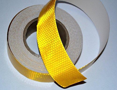 45Meter Truck LKW gelb reflektierend Conspicuity Tape Aufkleber Aufkleber Vinyl für LKW Trailer Van Caravan Camper Chassis ECE 104 (Reflektierende Lkw-tape)
