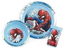 Lulabi Marvel Spiderman Set repas pour enfants, plastique, bleu