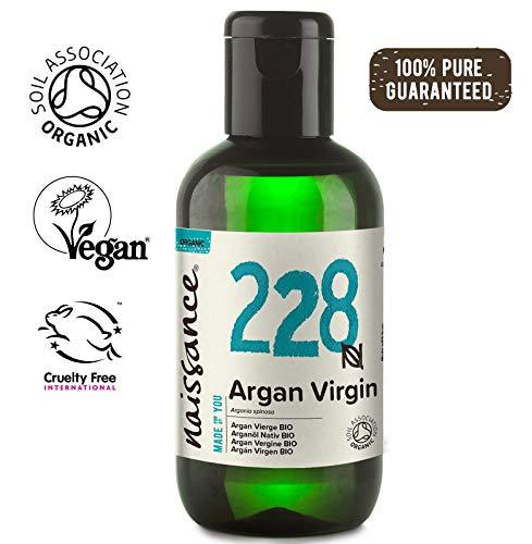 Naissance marokkanisches Arganöl Nativ BIO (Nr. 228) 100ml - kaltgepresst, rein natürlich - Pflegeöl für Gesicht, Haut, Haar, Bart & Nagelhaut