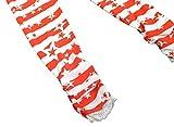 Bienzoe Mädchen Strick Baumwolle Stretch Schuluniform Spitze Antistatische Legging 3 Packung Drucken Größe 8 - 6