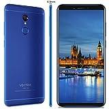 Vernee M6 Smartphone(2018), Schermo HD da 5,7 Pollici(18:9), 4GB + 64GB, Processore Octa-core, Android 7.0, Telefono Cellulare Dual Sim 4G, Batteria 3300mAh, Fotocamera 16MP + 13MP, Blu