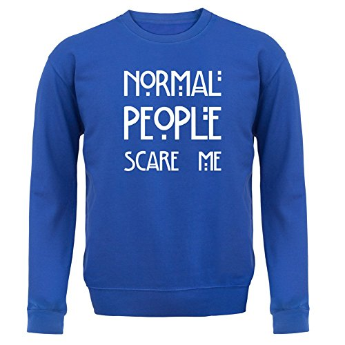 Normal People Scare Me - Enfant Sweat/Pull - Bleu Royale - XL (9-11 ans)