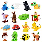 Nunki Toy Wind Up Toy,16 Pack Assorted Clockwork Toy Set(Contents and Color May Vary), Wind Up Animal Party Favors Toy Great Gift for Boys Girls Kids Toddlers
