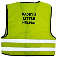 Kids High Visibility Hi Viz Safety Vest Top Hi Vis Baby Waistcoat Childrens Gift (LARGE (2-3 YEARS), DADY