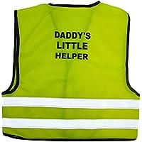 Kids High Visibility Hi Viz Safety Vest Top Hi Vis Baby Waistcoat Childrens Gift (LARGE (2-3 YEARS), DADY'S LITTLE HEPLER) by GILLICCI
