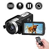 Videokamera Full HD Video Camcorder 1080p 24,0 MP 3 Zoll LCD drehbarer Bildschirm Digitale Camcorder 16x Digital Zoom Pause Funktion Fernbedienung Videorekorder