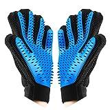 TINDERALA Handschuh, Fellpflege-Handschuh zur Einfachen Entfernung Loser Tierhaare - Wie Eine Massage für Hund & Katze (Blau)
