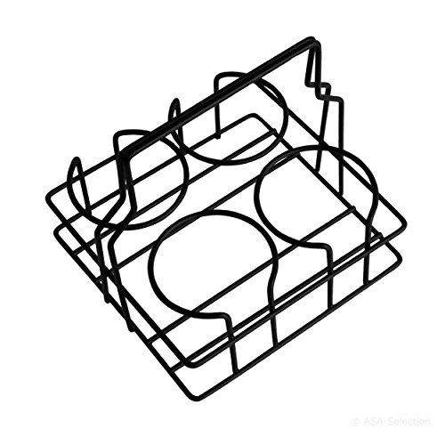 ASA coppetta de Tasse, support porte-gobelet pour les petites Gobelet, Tasse, acier inoxydable, noir, 99207950