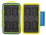 Flashwoife Turtle-SD8MSD16Y spritzwasserdichte Speicherkarten Schutzbox, patentierte Aufnahme, 8 Stück SDHC und 16 Stück MicroSD Cards Case, gelb