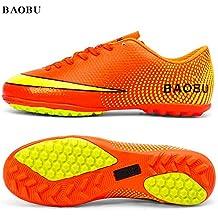 BAOBU Adultos unisex zapatos de entrenamiento profesionales TF resistente al desgaste zapatos de fútbol antideslizantes