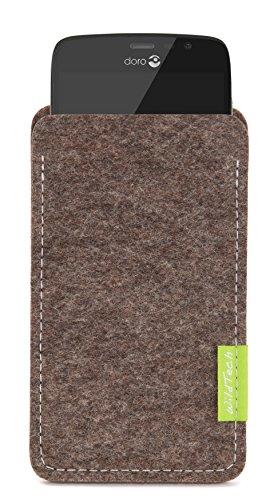 WildTech Sleeve für Doro Liberto 825 Hülle Tasche - 17 Farben (Handmade in Germany) - Natur-Meliert