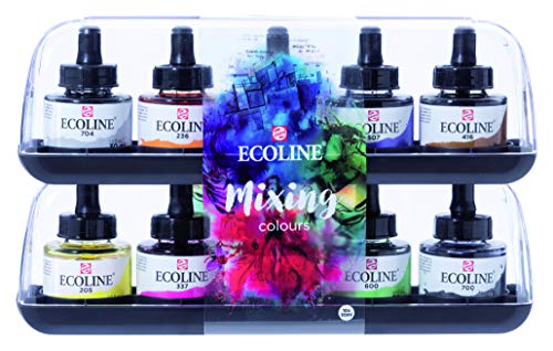 Talens Ecoline Wasserfarbe 10 x 30ml Gläser-Set
