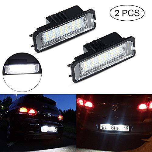 Kennzeichenbeleuchtung Linsen, UMIWE Kennzeichenbeleuchtung LED-Lampen für V-W(GOLF/Lupo/Scirocco/Polo/Passat/Phaeton/NEW Beetle/EOS), S-EAT(Leon/Altea XL/Exeo LIMOUSINE/Ibiza), S-koda Superb (Volkswagen 2002 Radio Beetle)