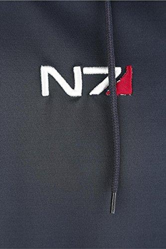 Mass Effect - Felpa con cappuccio uomo Andromeda logo N7 nero Multicolore