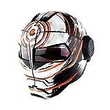 CASCOEN Casco moto cross Casco integrale motocross matte white vortex M