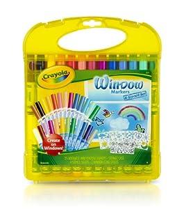 Desconocido Crayola 04-5229 - Maletín para Decorar Ventanas 50 Piezas