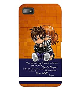 PRINTSWAG KIDS WITH QUOTE Designer Back Cover Case for BLACKBERRY Z10