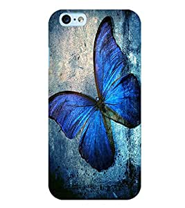 Citydreamz Blue Butterfly/Beautiful Print Hard Polycarbonate Designer Back Case Cover For Apple Iphone 6/6S