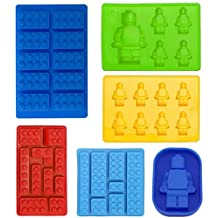 Robot Bandeja Cubitos de hielo Molde de Silicona, Moldes de caramelos, Moldes de Chocolate