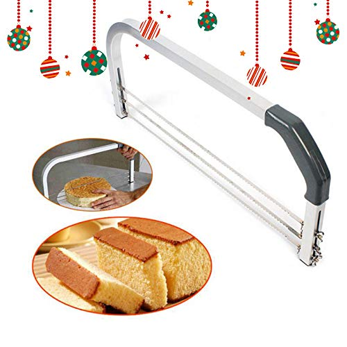 PRUNUS™ Kuchenschneider, verstellbar 3 Klingen - Kreuz- Querschnitt Der beste Kuchenschneider für Anfänger, um den Kuchen gerade zu schneiden, aber auch für Profis geeignet.