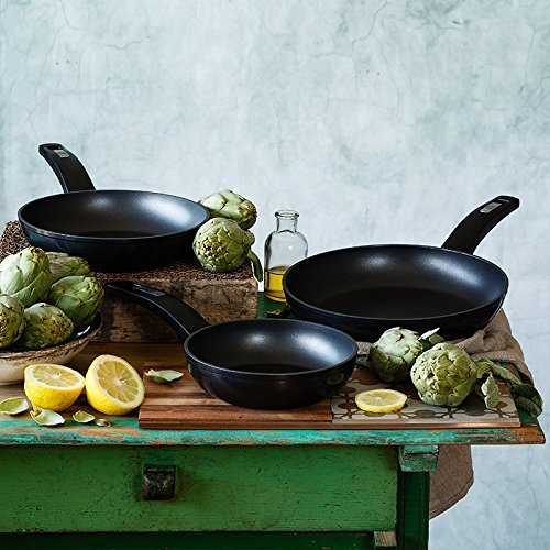 Bradesign Frying Pans, Set of 3, 18cm, 22cm/26cm)