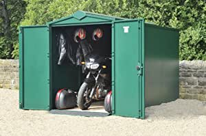 Secure Motorcycle Garage 5ft x 10ft 9 Dark Green (WITH assembly)