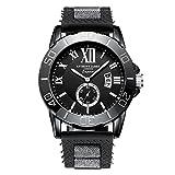 Anthony James Limited Edition imperatore maschile sport orologio da polso con garanzia a vita, involucro di metallo nero e durevole polso elastico