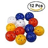 TOYMYTOY 12pcs Boules de Golf en Plastique Perforées Hollow Golf Practice Training Balls (Mixed Colors)...