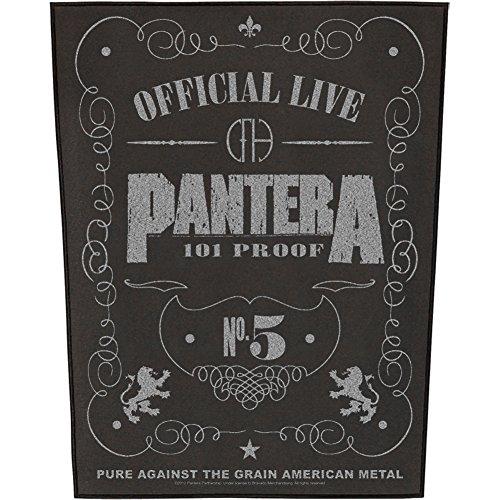 Pantera Music T-shirt (PANTERA 101% PROOF Backpatch)