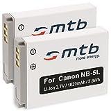 2x Akku NB-5L für Canon PowerShot SX200 IS, SX210 IS, SX220 HS, SX230 HS...siehe Liste!